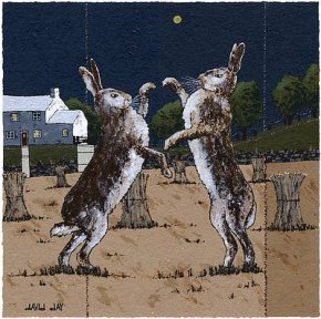 Harvest Hares a limited edition print by David Day