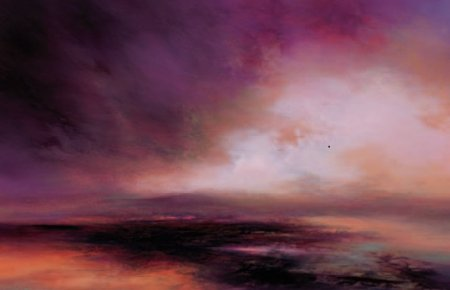 Buy Purple Sunset - art print by artist Kirstie Cohen