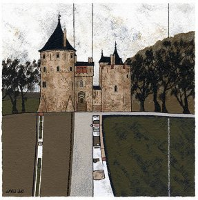 Castle Coch a limited edition print by David Day