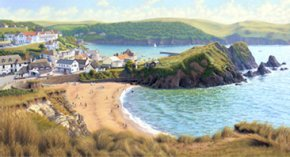 Hope Cove a limited edition print by Brett Humphries