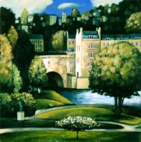 Through Parade Gardens To Pulteney Bridge a limited edition print by Kevin Safe
