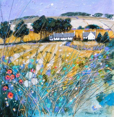 Buy Farmstead Fieldedge near Forfar - art print by artist Deborah Phillips