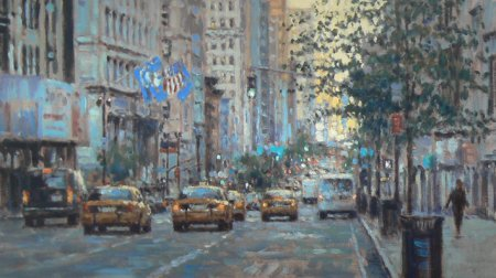Buy First Light Manhattan - art print by artist David Farren