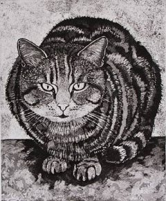 Tabby Tom Cat a limited edition print by Linda Richardson