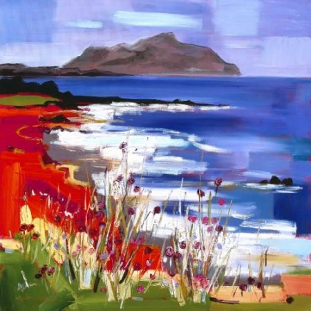 Buy Holy isle, Arran - art print by artist Judith Bridgland