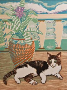 Arnold and the Urn Plant a limited edition print by Linda Richardson