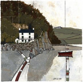 The Boathouse, Laugharne a limited edition print by David Day