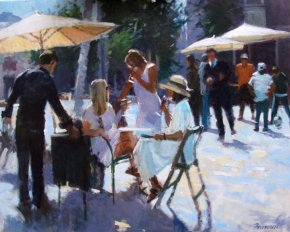 Aperitifs a limited edition print by David Farrant
