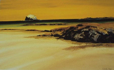 Buy Bass Rock - art print by artist Dorothy Bruce