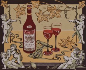 Wine a limited edition print by Linda Richardson