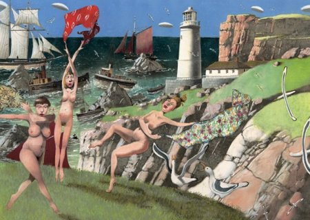 Buy Lighthouse Keeper's Daughters - art print by artist Richard Adams