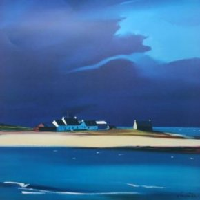 The Row, Tiree a limited edition print by Pam Carter