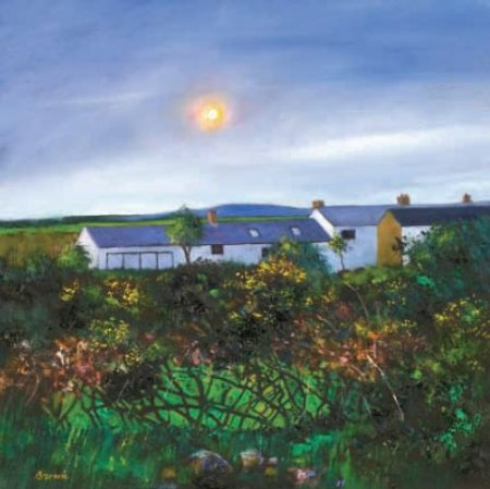 Buy Cornish Cottages - art print by artist Davy Brown