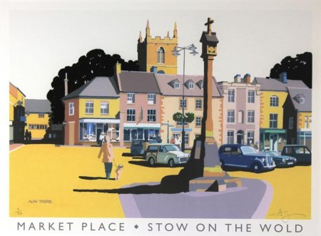 Buy Stow on the Wold - art print by artist Alan Tyers