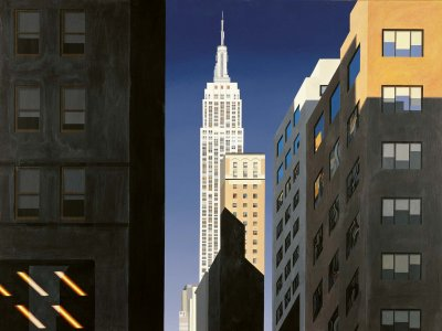 Evening Light, 5th Avenue - Limited edition print and art print by Michael Kidd