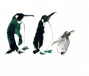 Penguins a limited edition print by Madeleine Floyd
