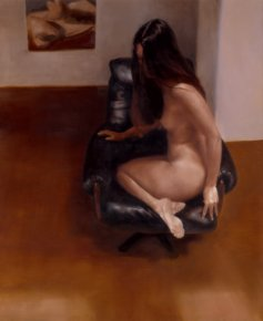 Leather Chair a limited edition print by David Knight