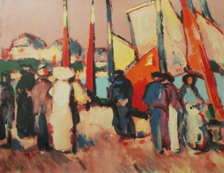 Buy People and Sails at Royan, 1910 - art print by artist John Duncan Fergusson