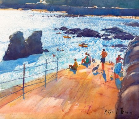 Buy Late Players on the Slipway - art print by artist Richard Thorn