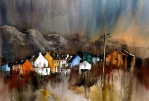 Allihies Dusk Beara a limited edition print by Val Byrne