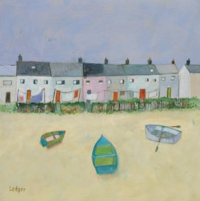 Kippers and Cottages a limited edition print by Janet Ledger