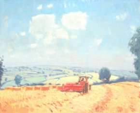 Farm Scene South Hams a limited edition print by Stephen Brown