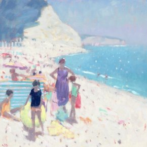 Beer Beach a limited edition print by Stephen Brown