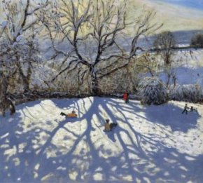 Tree and Tobbogans a limited edition print by Andrew Macara
