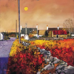 Galloway Village a limited edition print by Davy Brown