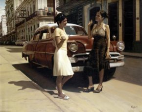 Three Cuban Beauties a limited edition print by Maykel Herrera