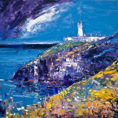 Buy Tiumpan Head Light, Isle of Lewis - art print by artist John Lowrie Morrison
