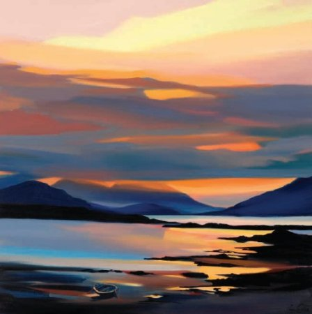 Buy Red on the Cuillin - art print by artist Pam Carter