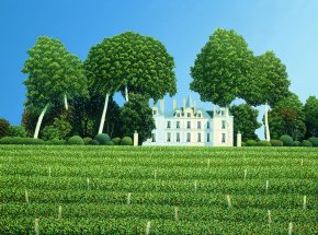 Pichon Lalande a limited edition print by Michael Kidd