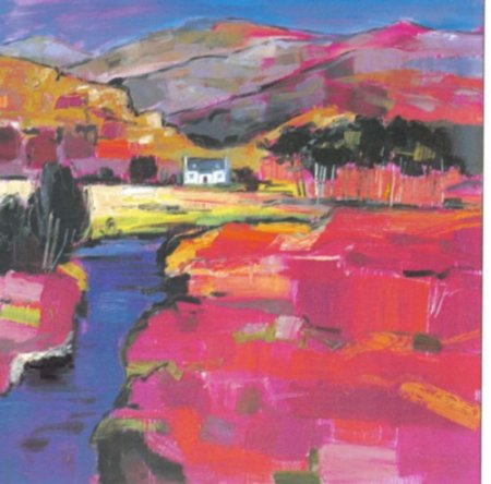 Buy Cottage on the Road to Arisaig - art print by artist Judith Bridgland