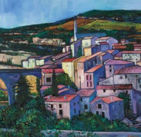 Evening Sunlight Minerve a limited edition print by Davy Brown