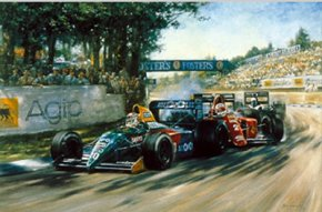 Fighting Finish a limited edition print by Alan Fearnley