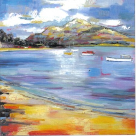 Buy About to Rain, Loch Lomond - art print by artist Judith Bridgland