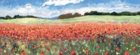 Poppy Profusion a limited edition print by Timmy Mallett