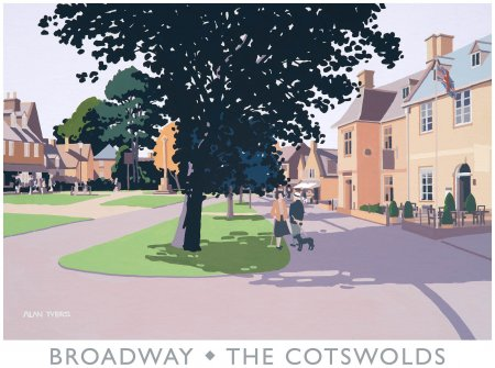 Buy Broadway - The Cotswolds - art print by artist Alan Tyers