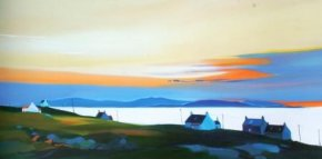 Suncolours, Eriskay a limited edition print by Pam Carter
