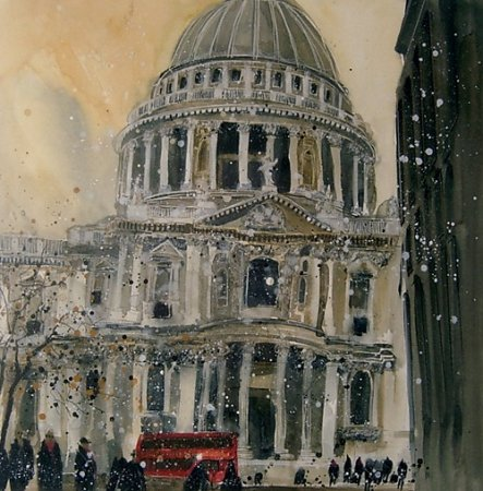 Buy South Porch, St Pauls, London - art print by artist Susan Brown