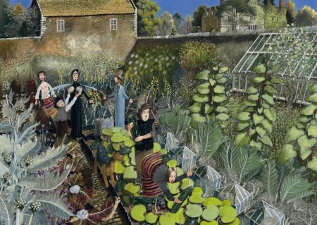 Buy Kitchen Garden - art print by artist Richard Adams