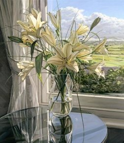 White Lillies a limited edition print by Jim Farrant