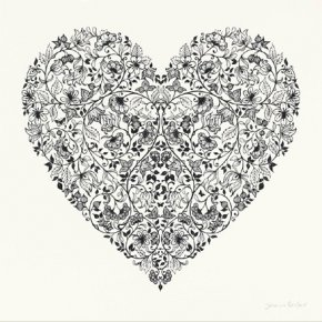 Heartbreak (White) a limited edition print by Johanna Basford