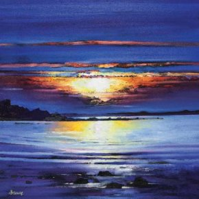 Midsummer sunset a limited edition print by Davy Brown