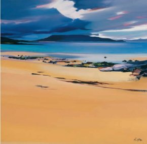 Niabost Sands, Harris a limited edition print by Pam Carter