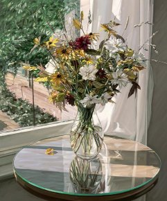 Autumn Flowers a limited edition print by Jim Farrant