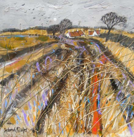 Buy Stubbly Field at Abercrombie - art print by artist Deborah Phillips
