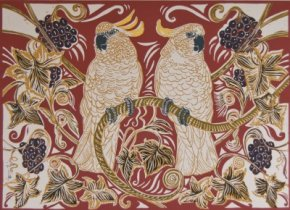 Birds and Vine a limited edition print by Linda Richardson