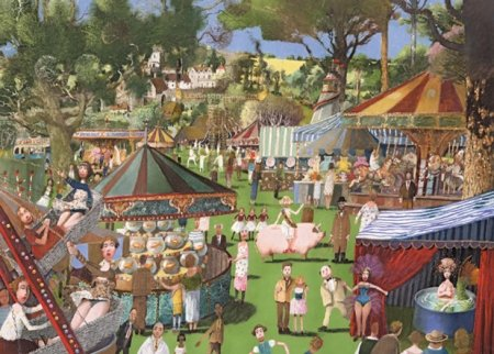 Buy Country Fair - art print by artist Richard Adams